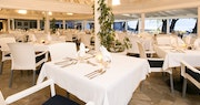 Indulge in oceanfront dining at the Sunset Restaurant at The Club Barbados Resort & Spa, Barbados