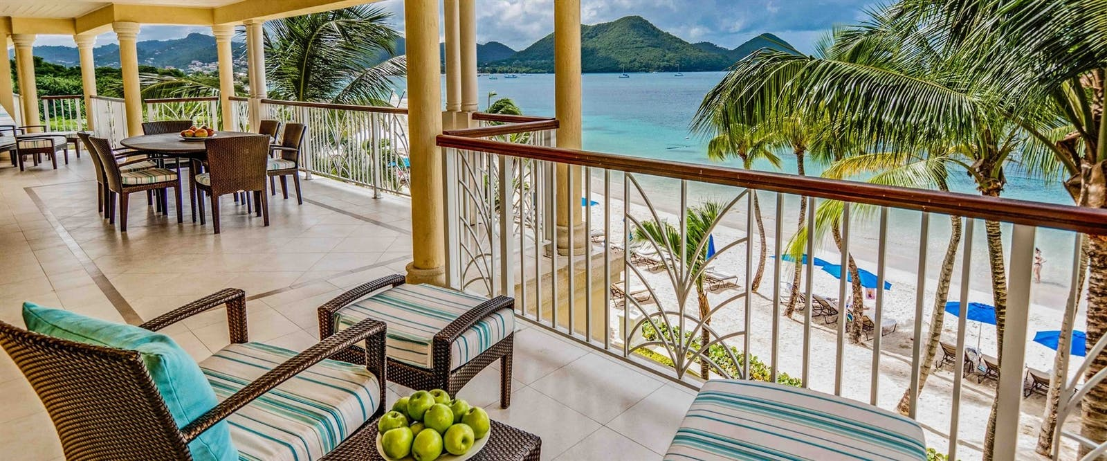 Ocean Front Terrace at The Landings Resort and Spa by Elegant Hotels, St Lucia