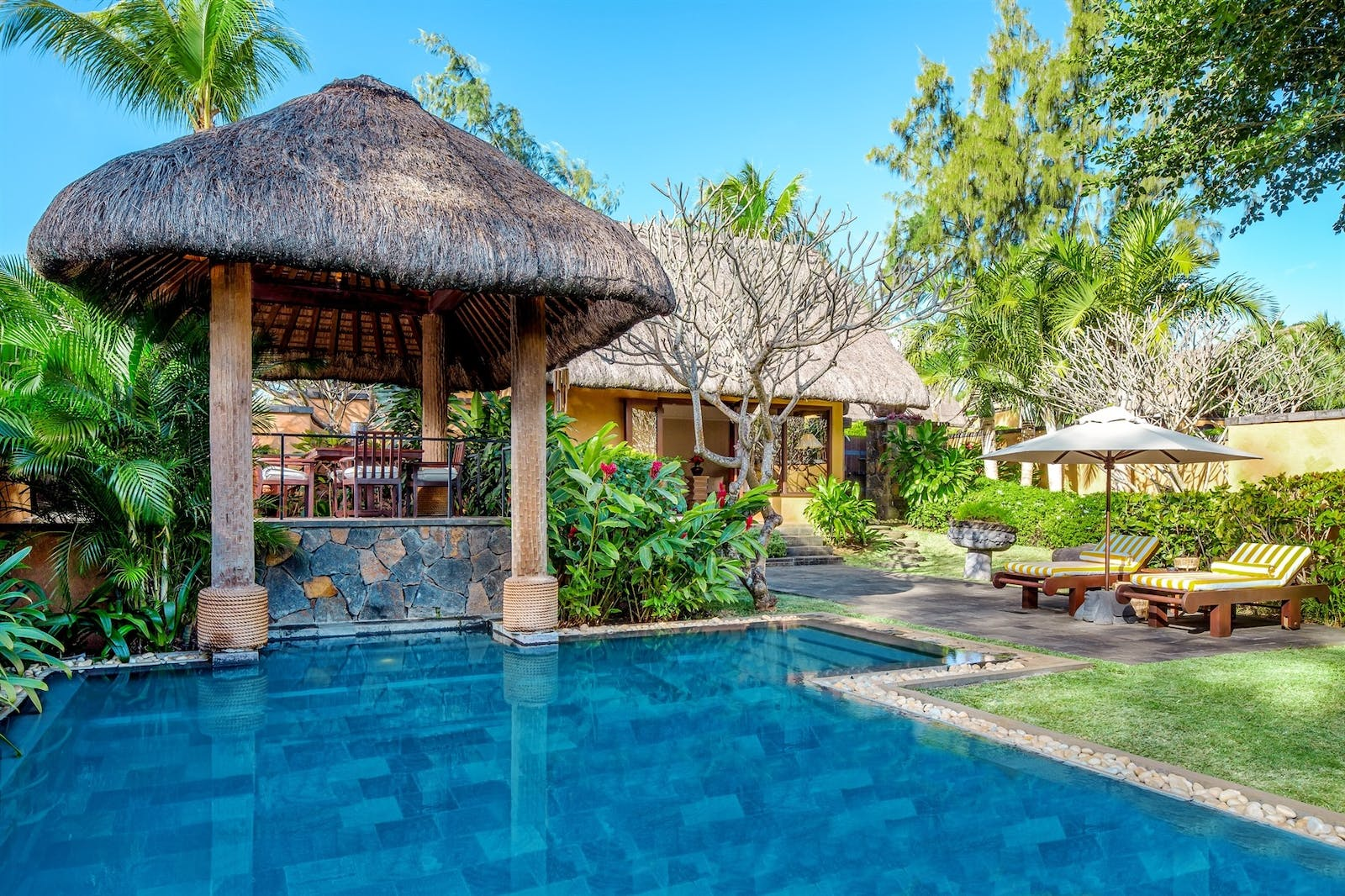 Luxury Villa Pool, The Oberoi, Mauritius