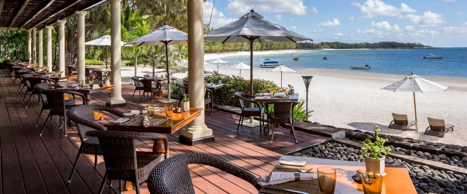 The Plantation Restaurant at The Residence Mauritius, Indian Ocean