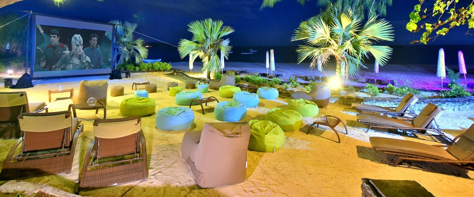 Cinema on the Beach at The Residence Mauritius, Indian Ocean
