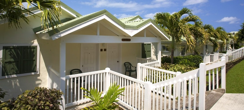 Hillside suites situated within lush tropical gardens at The Verandah Resort & Spa, Antigua