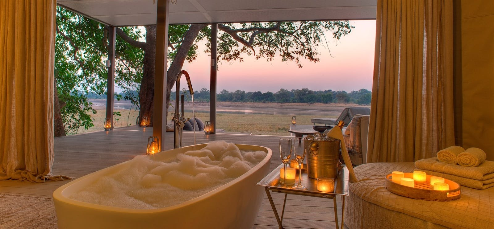 One=bedroom Villa at Time + Tide Chinzombo, South Luangwa Safari, Zambia, Africa