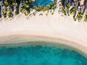 Aerial View of Six Senses Fiji