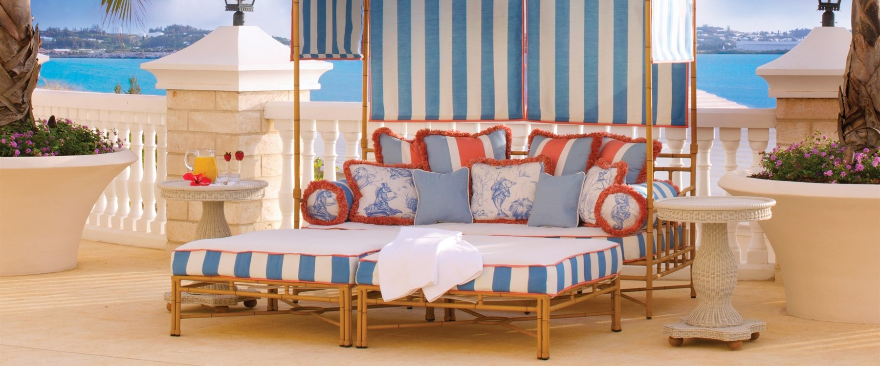 Castle Harbour Pool Private Day Bed at Rosewood Bermuda