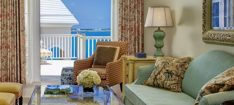 Two bedroom manor house suite living area at Rosewood Bermuda