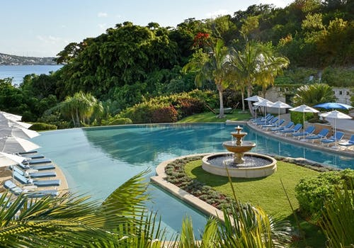Palm Court Swimming Pool at Rosewood Bermuda
