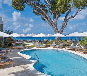 The pool area at Treasure Beach by Elegant Hotels, Barbados