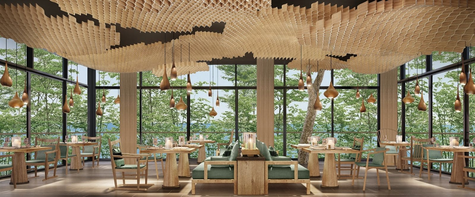 Tree Restaurant at Six Senses Krabey Island, Cambodia
