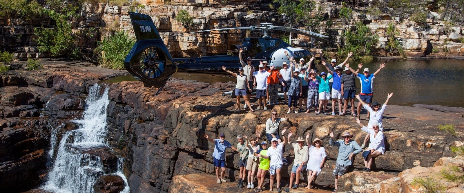 Helicopter to Eagle Falls, True North Cruise, The Kimberley