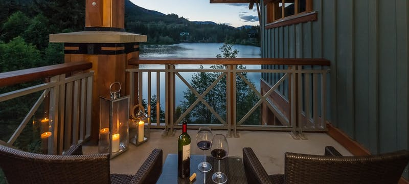 Balcony room at Nita Lake Lodge