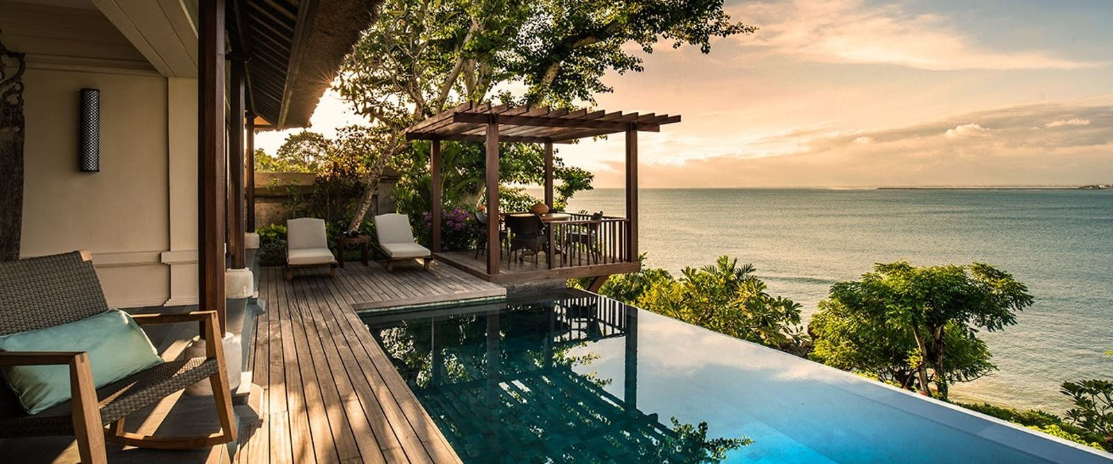 Two bedroom premier ocean villa sunset at Four Seasons Resort Bali at Jimbaran Bay