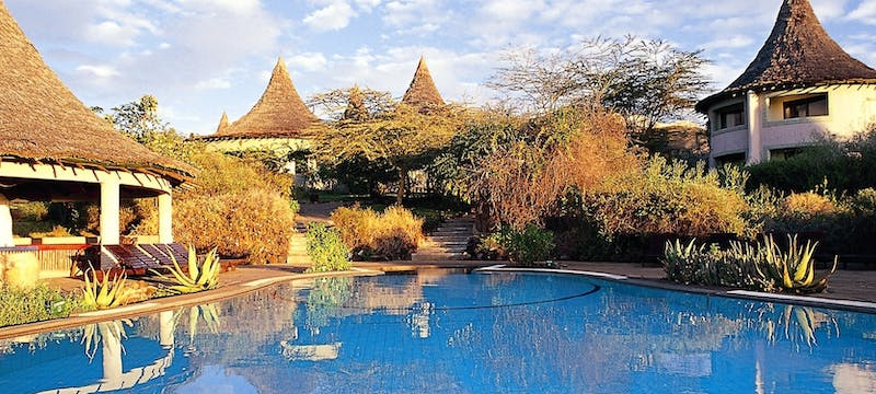 Lodge exterior at Lake Manyara Serena Safari Lodge