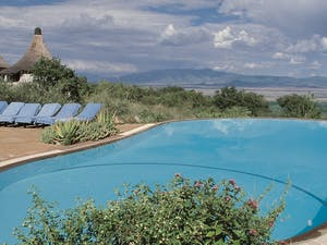 Swimming pool area at Lake Manyara Serena Safari Lodge