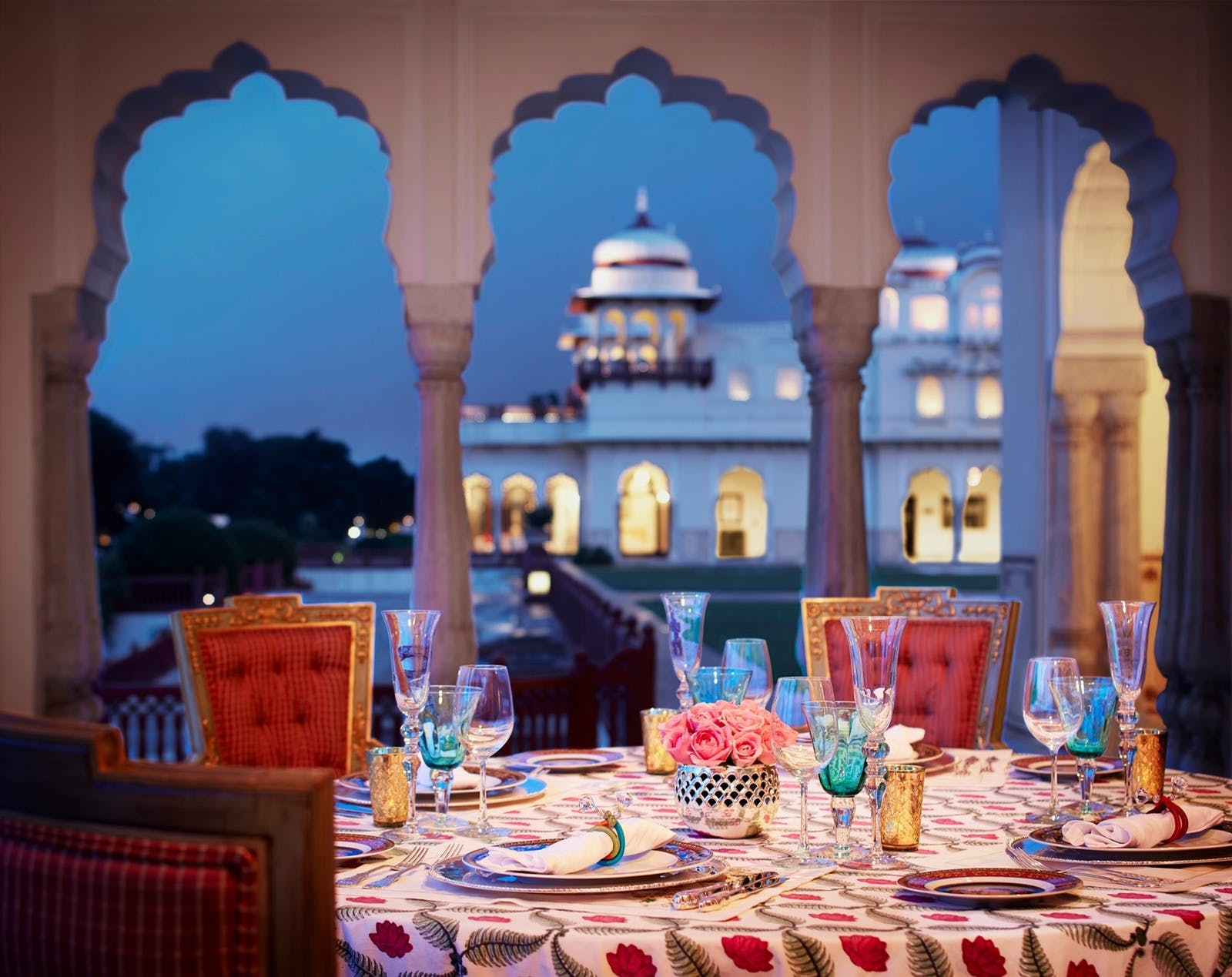 unique dining at taj rambagh palace jaipur