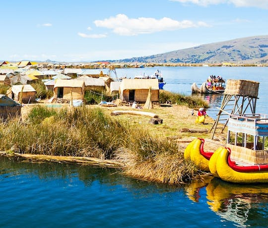 Uros Reed Island on a classic Peru tour
