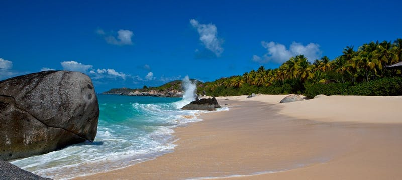 Beautiful shoreline at Rosewood Little Dix Bay, British Virgin Islands