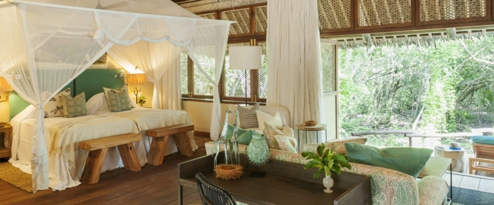 Bedroom in Papilio at Vamizi Island, Mozambique
