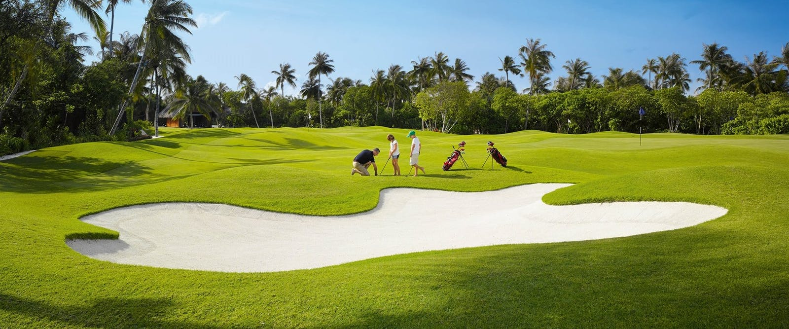 Golf Academy and 9-hole Golf Course at Velaa Private Island, Maldives,  Indian Ocean