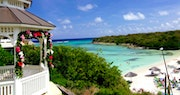 Overview of beach and gazebo at The Verandah Resort & Spa Antigua