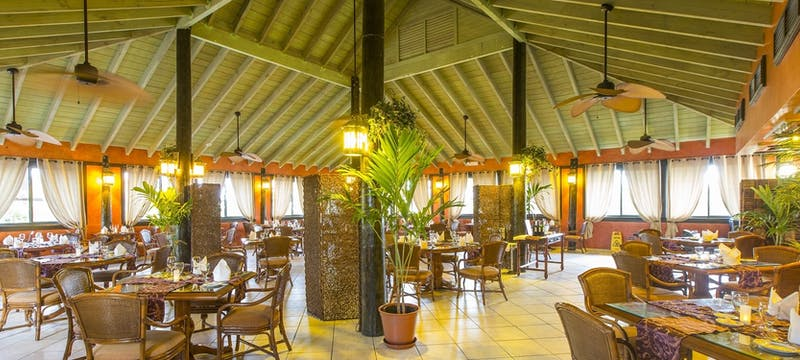Fine dining restaurant serving sublime Caribbean-fusion cuisine at The Verandah Resort & Spa, Antigua