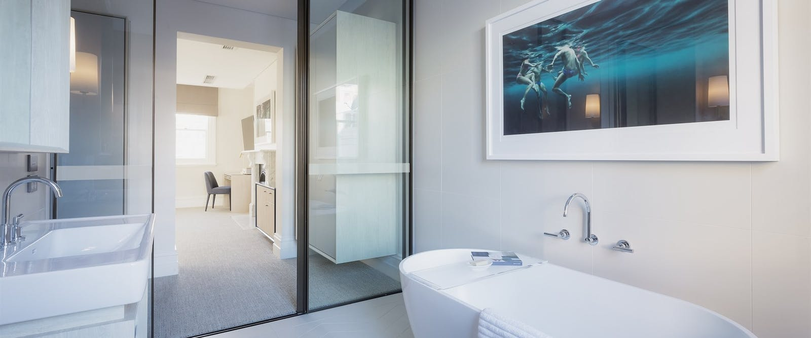 victoria suite bathroom at Spicers Potts Point