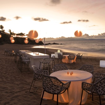 Ocean front dining at W Retreat & Spa - Vieques Island,Puerto Rico