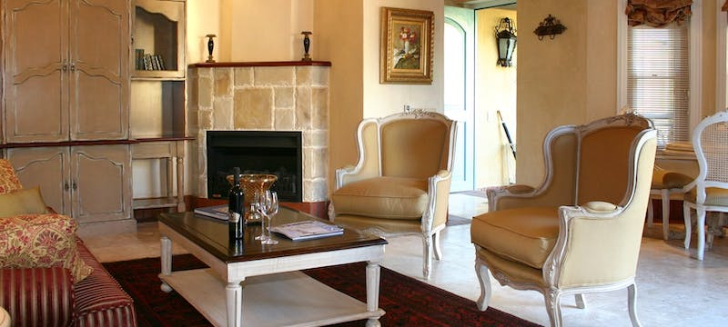 Villa suite lounge at Franschhoek Country House and Villas