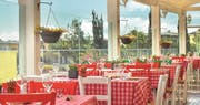 Dining in the village square at Aphrodite Hills Holiday Residences - Villas & Apartments, Paphos