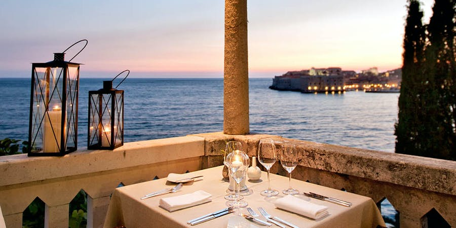 Dining with beautiful view, Villa Orsula Dubrovnik