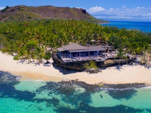 Aerial View of Vomo Island Resort, Fiji