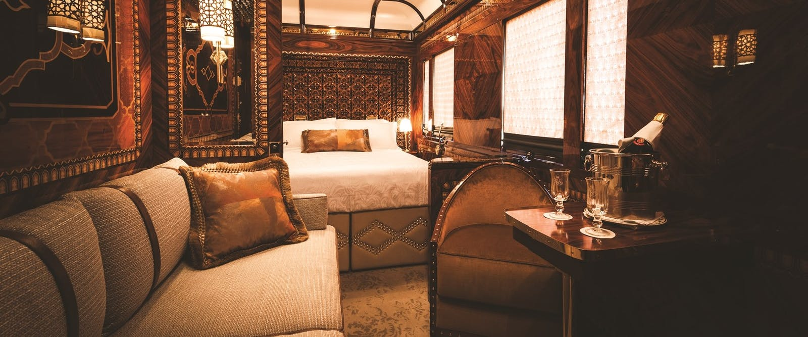 Accommodation on board Venice Simplon-Orient-Express, Venice, Italy