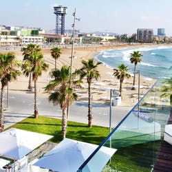 Beach View at W Barcelona, Spain