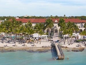 Aerial View of Casa Marina, A Waldorf Astoria Resort