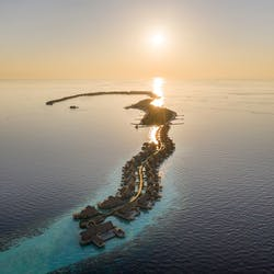 Aerial View of Waldorf Astoria Maldives Indian Ocean