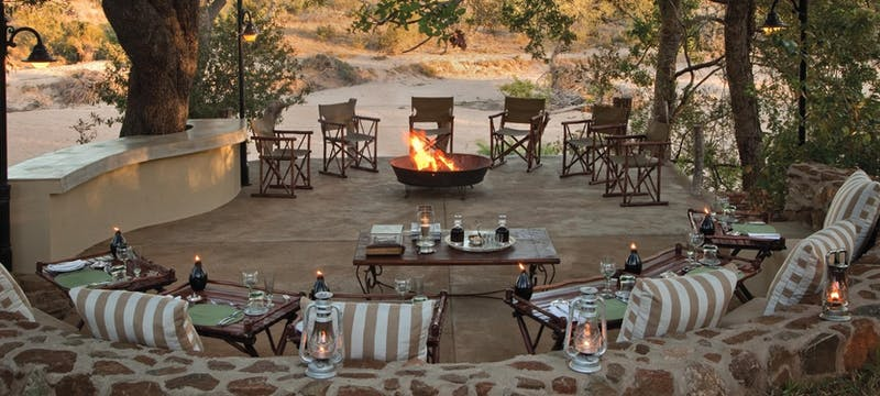 Seated deck at Kings Camp Private Game Reserve, South Africa