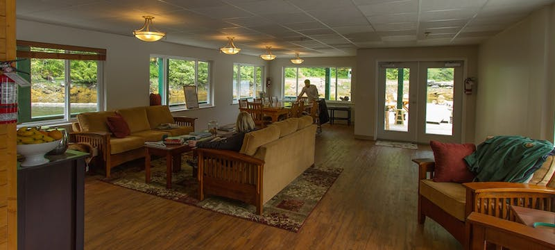 Welcome lounge at Great Bear Lodge