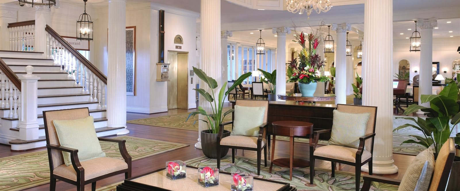 Lobby at Moana Surfrider, A Westin Resort