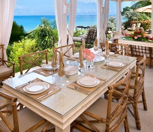 Dining at Westhaven, Barbados