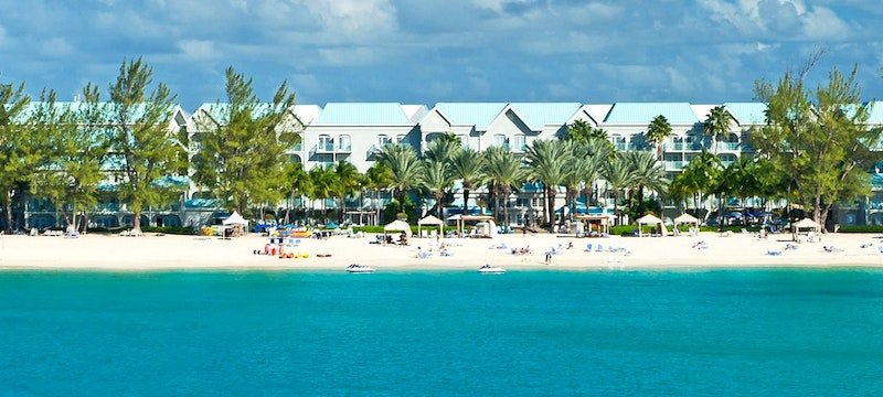 Beautiful shoreline of Westin Grand Cayman, Cayman Islands