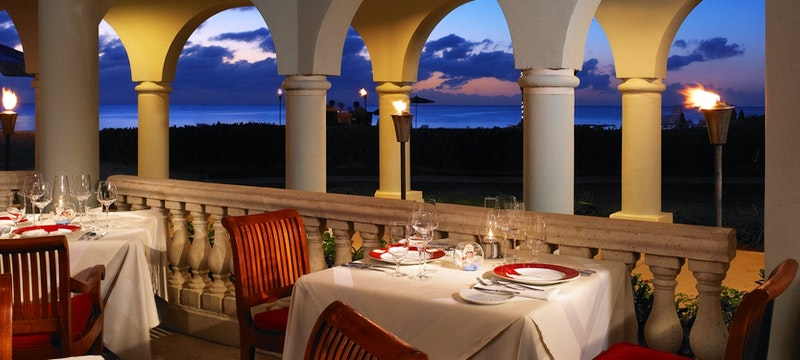 Upscale yet casual dining at Beach House Restaurant at Westin Grand Cayman, Cayman Islands