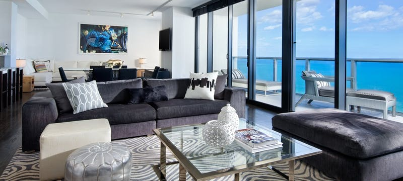 WOW Suite Living Room at W South Beach, Miami