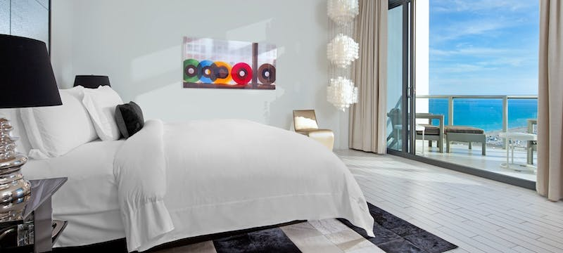 WOW Suite master bedroom at W South Beach, Miami