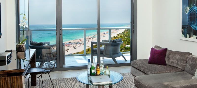 Guestroom at W South Beach, Miami