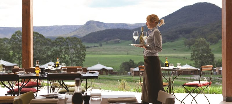 Dining at Emirates One&Only Wolgan Valley, Australia