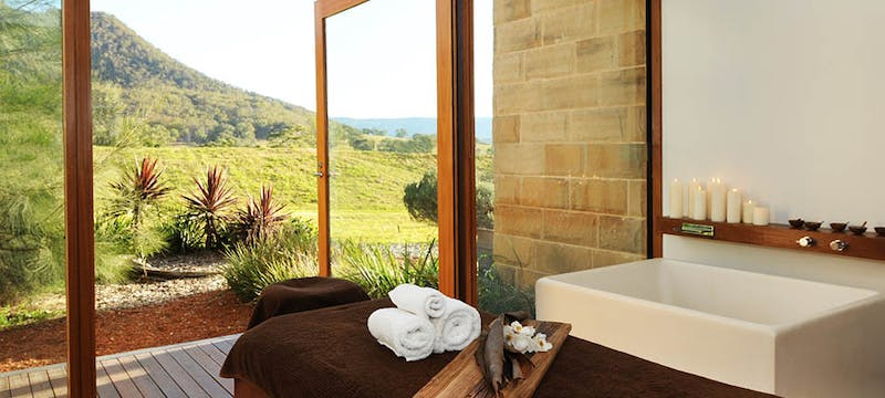 The spa at Emirates One&Only Wolgan Valley, Australia