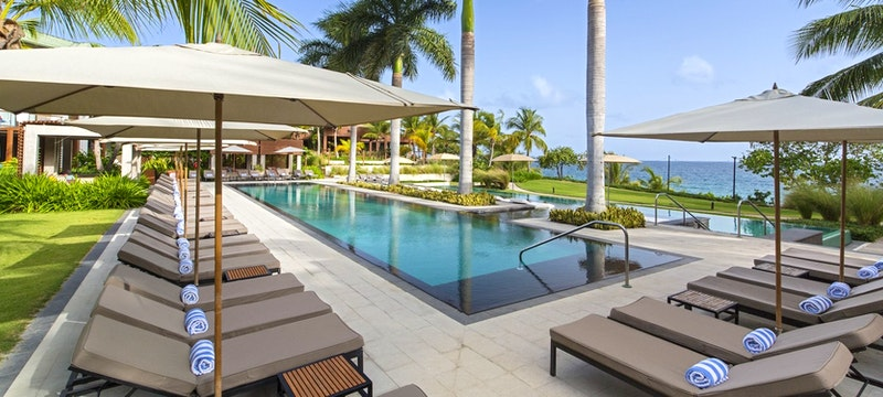 Serene pool area at W Retreat & Spa - Vieques Island,Puerto Rico