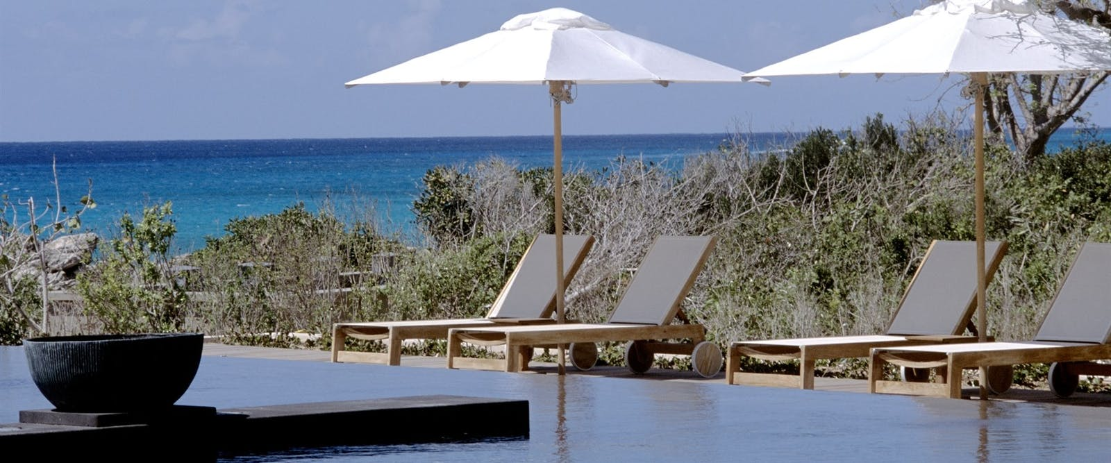 Sun loungers at Amanyara, Turks and Caicos