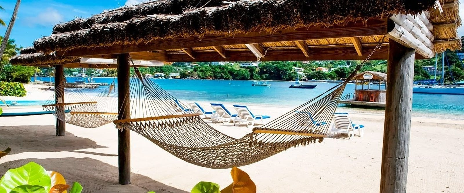 Beach Hammock at Young Island, St. Vincent & The Grenadines, Caribbean