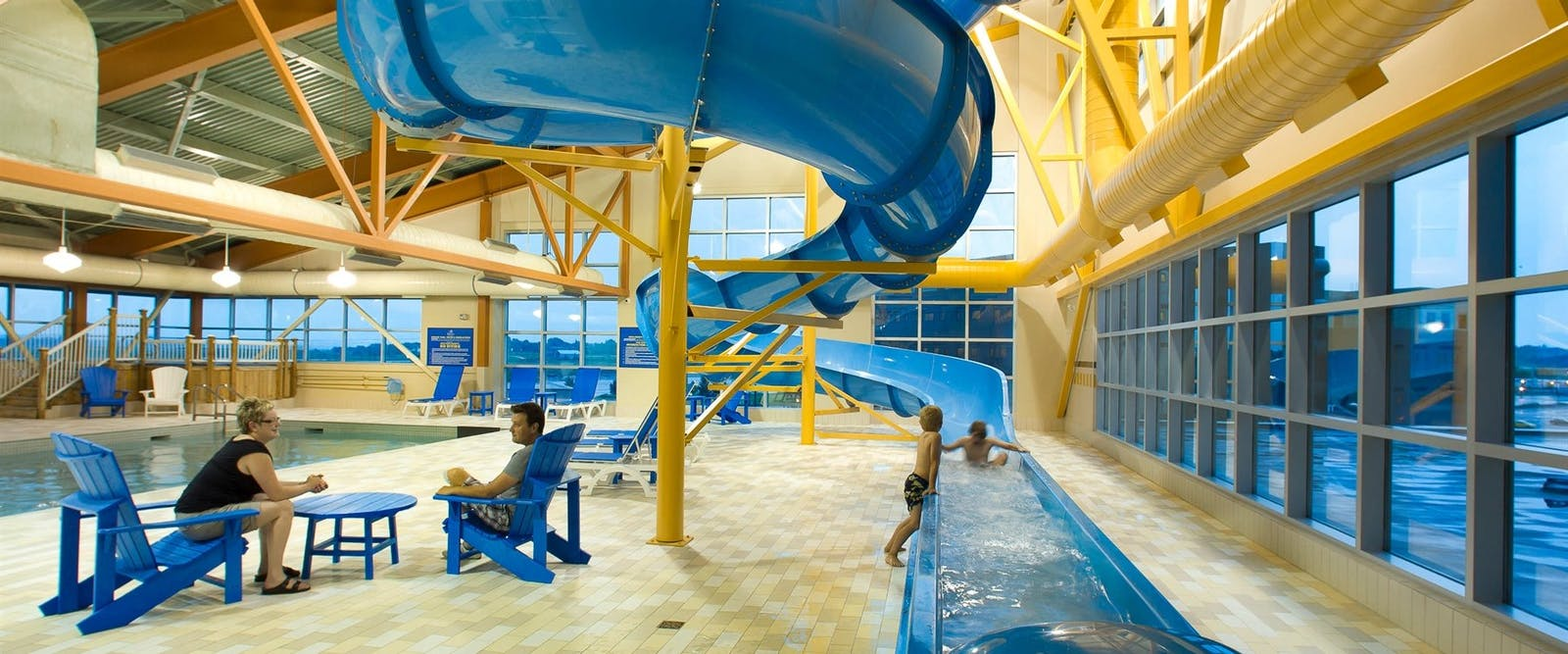 Pool area at Delta Beausejour, Moncton